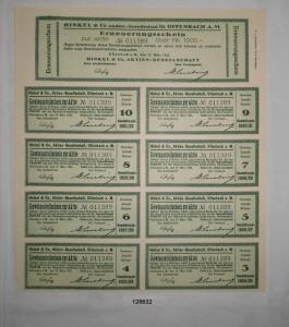 1000 Mark Erneuerungsschein Hinkel & Co. AG Offenbach am Main 13.3.1923 (128632)