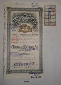500 Francs Anleihe Ville de Mulhouse Haut-Rhin 1. Oktober 1919 (128477)
