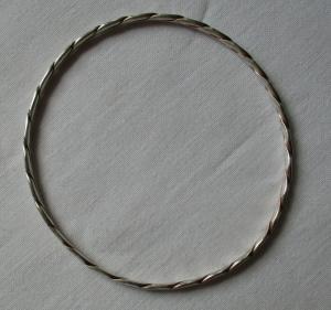 Schöner Armreifen Armband aus 835er Silber mit Glieder Ornament (117741)