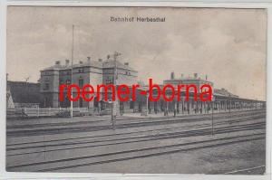 72471 Feldpost Ak Bahnhof Herbesthal 1917