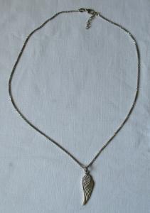 Elegante 925er Sterling Silber Kette mit Engelsflügel Anhänger (116379)