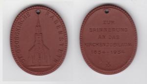 Seltene Meissner Porzellan Medaille St. Georgkirche Rabenstein 1954 (133219)