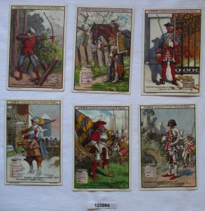 4/123984 Liebigbilder Serie Nr. 474 Soldaten verschiedener Zeiten 1900