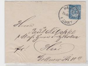 69836 Privatpost Ganzsachenbrief Berliner Omnibus & Packetfahrt AG 1888