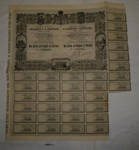 1 Aktie Compagnie Madrilène d'Éclairage et de Chauffage par le Gaz 1900 (128823)