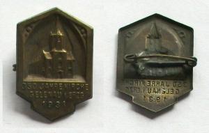 Seltenes Abzeichen 350 Jahre Kirche Gelenau im Erzgebirge 1931 (132793)