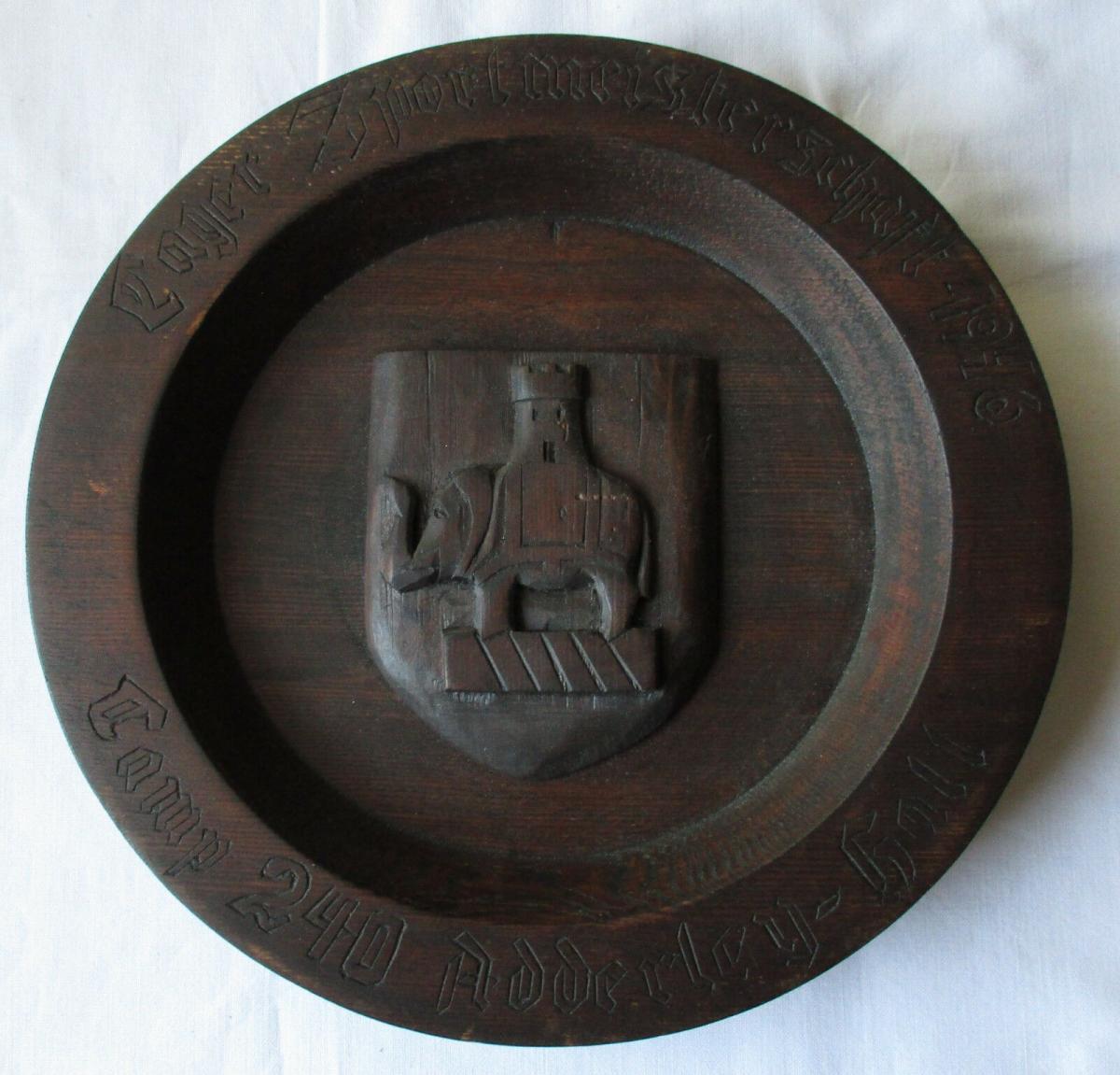 Teller Kriegsgefangenen Camp 240 Adderey Hall Lager Meisterschaft 1946 (103938) 0