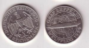 5 Mark Silber Münze Graf Zeppelin Weltflug 1930 A (115306)