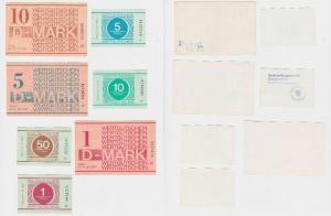 Kompletter Satz DDR 8 Banknoten Gefängnisgeld 1.Juli 1990 (117495)