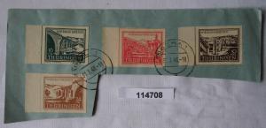 Briefstück mit SBZ Thüringen Michel 112-115 gestempelt 1946 (114708)