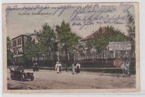 89262 AK Kurhotel Behringersdorf davor Automobil und Passanten 1919