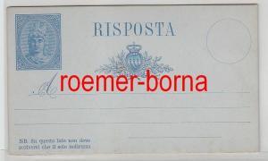 70892 seltene Ganzsachen Antwort Postkarte San Marino vor 1900