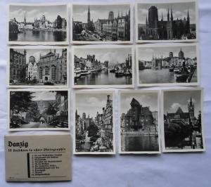 75519 Danzig 10 Ansichten in echter Photographie um 1930