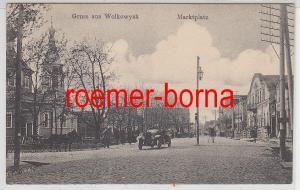 73641 Ak Gruss aus Wolkowysk Waukawysk Marktplatz um 1940