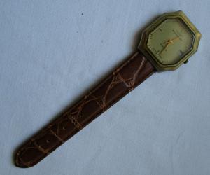 Seltene DDR Armbanduhr Ruhla Eurochron mit Widmung für 30 Jahre MdI (134204)