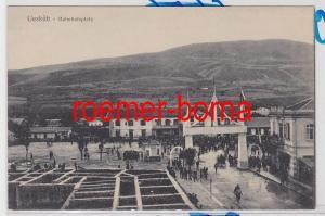 85914 Ak Uesküp (Skopje) Bahnhofsplatz 1916