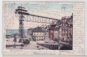 86306 AK Stockholm - Katarinahissen, Kran am Hafen, Schiff, Dampfer 1904