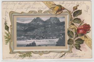68553 Präge Ak Lithographie Brunnen und Schyz mit den Mythen 1908