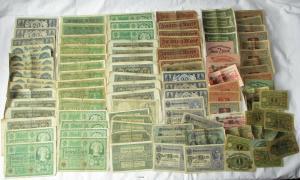 Sammlung mit 100 Banknoten Deutsches Reich (129106)
