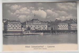 67087 Ak Lucerne Luzern in der Schweiz Hotel Schweizerhof um 1910