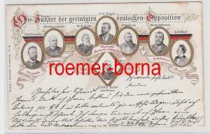 74269 Politik Ak Die Führer der geeinigten deutschen Opposition 1897