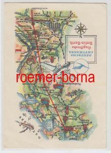 61294 Reklame Ak Deutsche Lufthansa Flugstrecke Berlin-Barth 1958