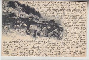68762 Ak Village de Gietroz in der Schweiz 1899
