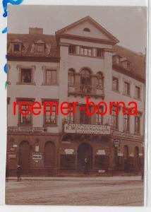 86101 Foto Karlsruhe Kaiserstr. 69 Ecke Waldhornstr. Buchbinderei Hofmann um1920