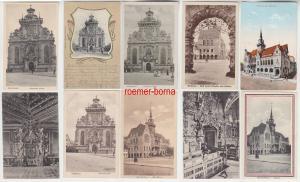 76119 / 10 Ak Bückeburg Rathaus, Kirche, Schloss um 1910