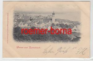 41720 Ak Gruss aus Rorschach Totalansicht 1898