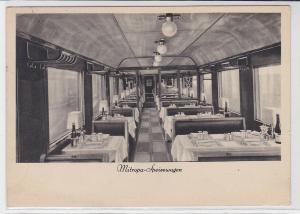 86168 Reklame AK MITROPA Speisewagen, Innenansicht 1935