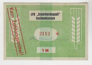 1 Mark Banknote DDR LPG Geld Sachsenhausen