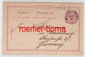 82551 Vorläufer Ganzsachen Karte Klein-Popo Togo 9/7.1891