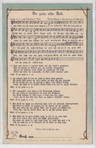 06210 Lied AK Anton Günther - Da guta alta Zeit. um 1910