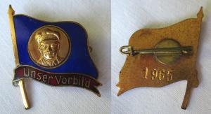 Seltenes DDR Abzeichen Ernst Thälmann Plakette Unser Vorbild um 1955 (117669)