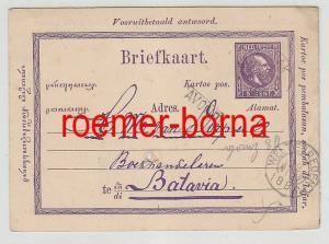 76081 alte Ganzsachen Karte Niederländisch Indien 5 Cent. 1886