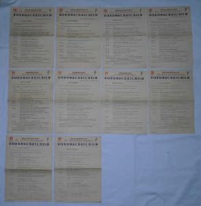 MS Völkerfreundschaft - FDGB Lot aus 10x Bordnachrichten Dezember 1962 (124227)