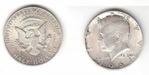 1/2 Dollar Silbermünze USA 1964 John F.Kennedy (116276)