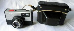 Kamera Beirette electric SL 400 + Meritar 2,8/45 + Ledertasche (114264)