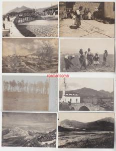 72320 / 8 Foto Ak Balkan 1. Weltkrieg um 1916-1918