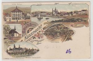 69570 Ak Lithographie Gruss aus Küssnacht am Vierwaldstädter See um 1900