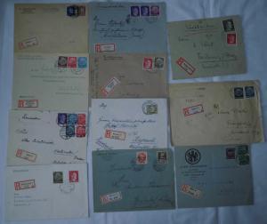 20 interessante Einschreiben Briefe Deutsches Reich (109760)