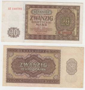20 Mark Banknote Deutsche Notenbank DDR 1948 (112453)