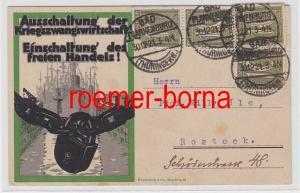 74045 Propaganda Postkarte Ausschaltung der Kriegszwangswirtschaft! 1921