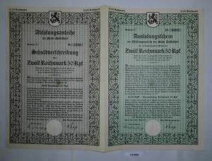12,5 Reichsmark Ablösungsanleihe der Stadt Düsseldorf 1.Juli 1927 (131890)