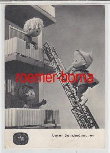 74289 Ak Unser Sandmännchen auf der Drehleiter Fernsehfunk der DDR 1970