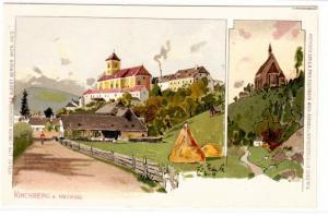 21033 Künstler Ak Kirchberg a.Wechsel um 1900