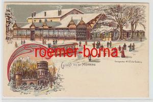 73567 Ak Lithographie Gruß aus der Monning bei Duisburg um 1900