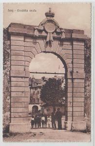 69621 Ak Senj in Kroatien Gradska Vrata um 1920