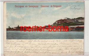 78429 Ak Belgrad Београд Souvenir de Belgrade 1907